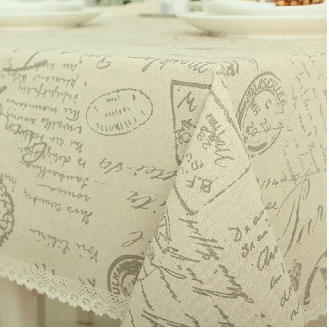 Europe Style Linen Cotton Table Cloth