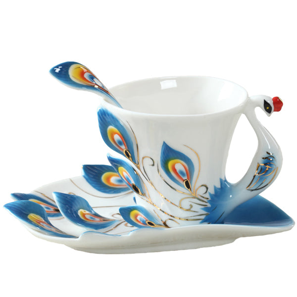 1 Pcs Peacock Coffee Cup