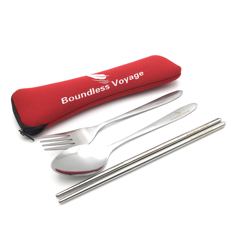 Boundless Voyage 3 Piece Stainless Steel Tableware Travel Camping Cutlery Fork