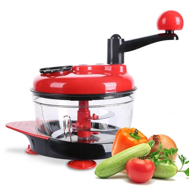 Manual Food Processor, Hand-Powered Miracle Chopper