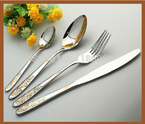 24pcs Stainless Steel Flat ware Sets