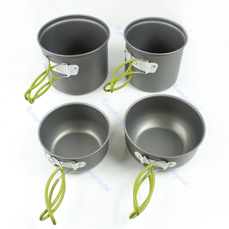 Cooking Picnic Bowl Pot Pan Set