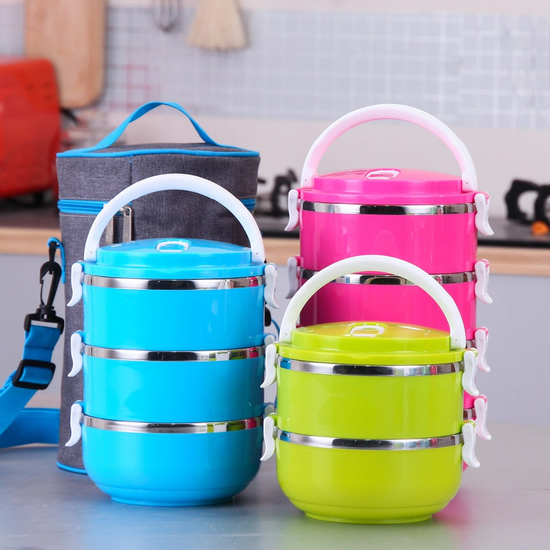 Container Lunch Food Box Portable Dinnerware Sets
