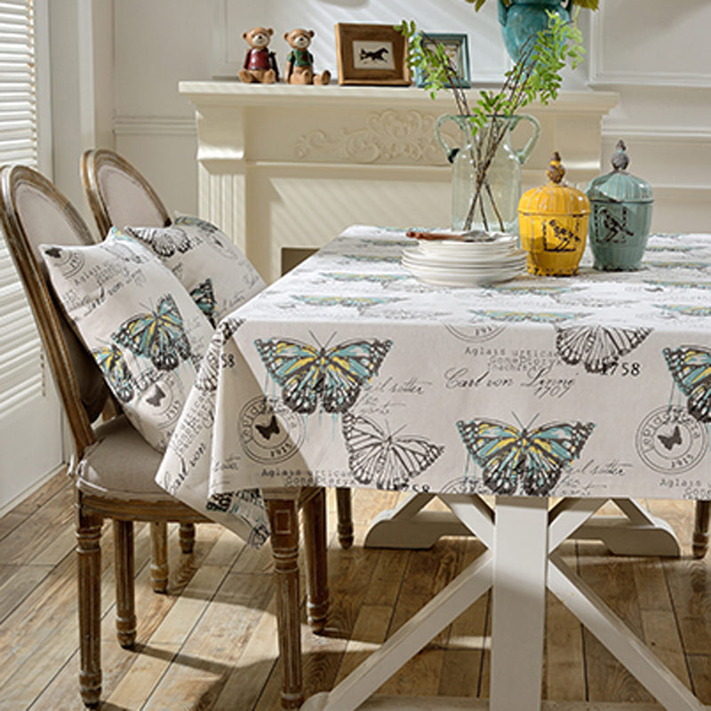 Graffit Butterfly Printed Linen Cotton Tableware