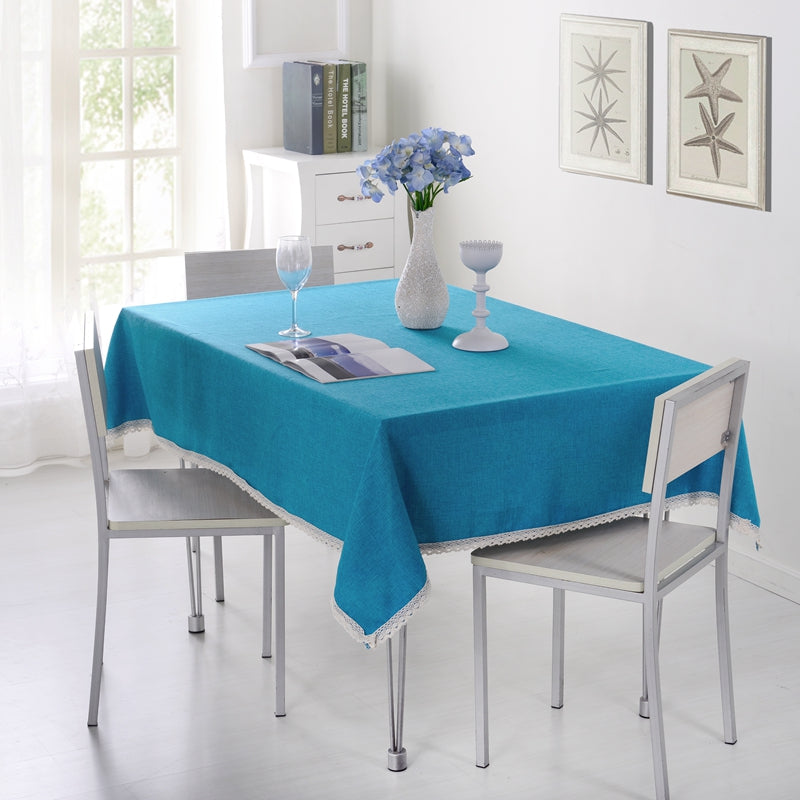 SunnyRain 1-Piece Solid Color Tablecloth