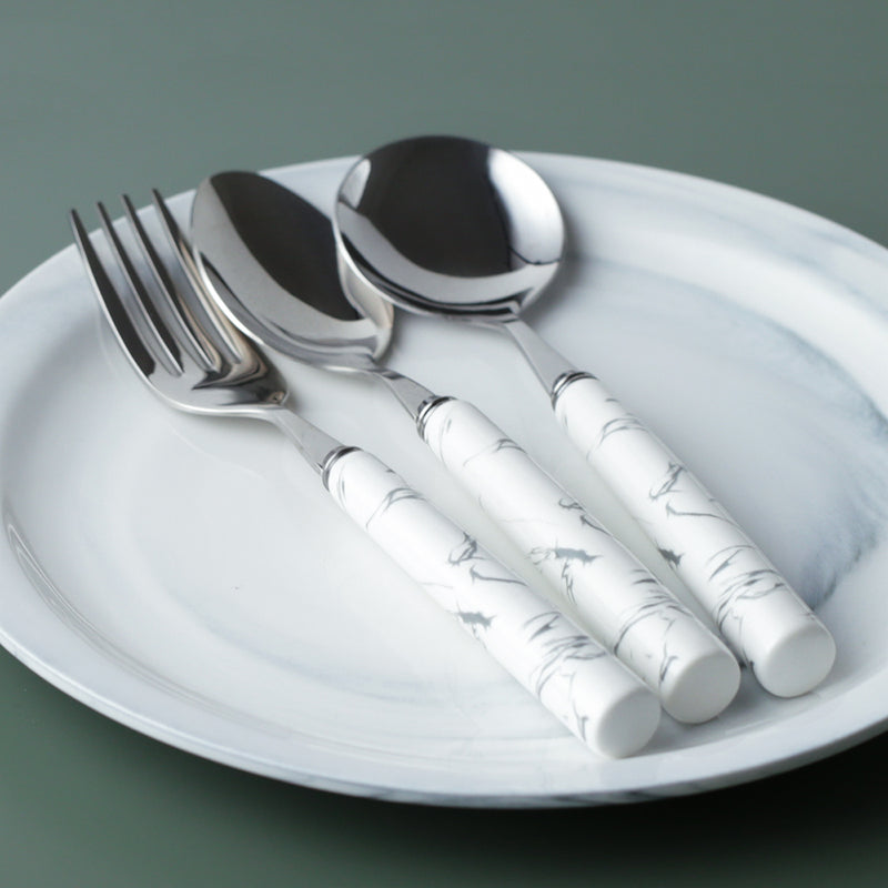 Marbled Design Stainless Steel Cutlery Set
