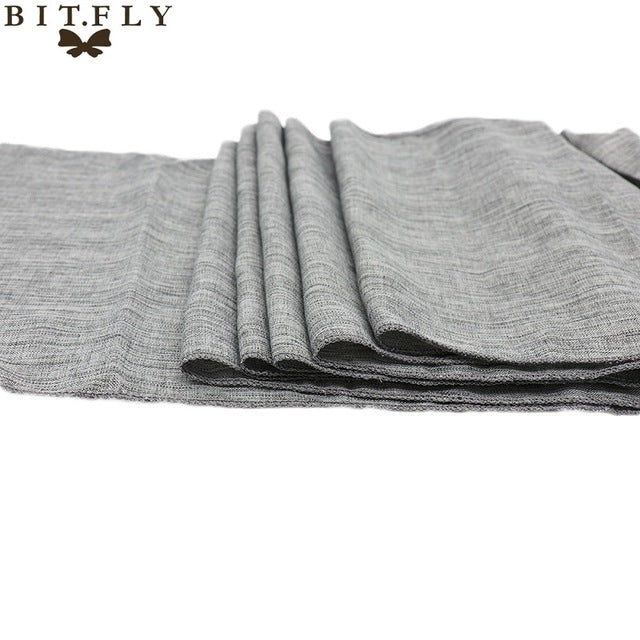 10pcs/Pack Gray Table Burlap