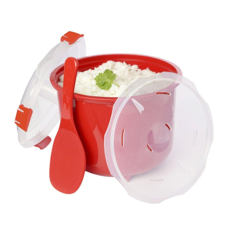 Eco-Friendly Plastic Microwave Rice Steamer Bowl