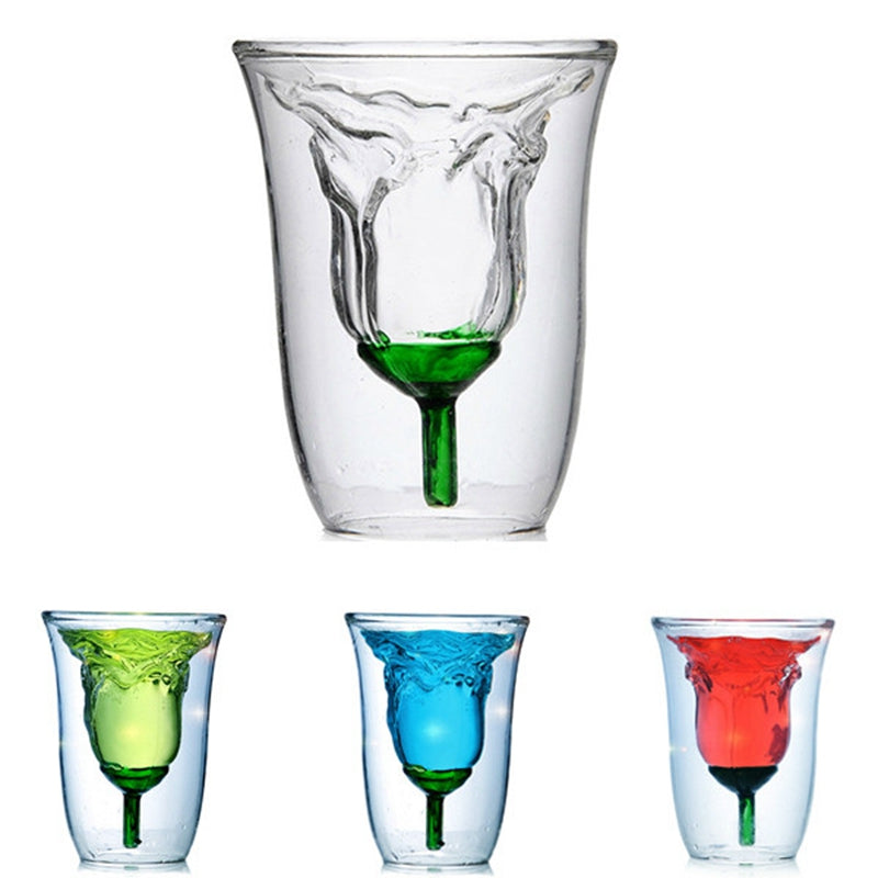 Flower Shaped Double Layer Cup