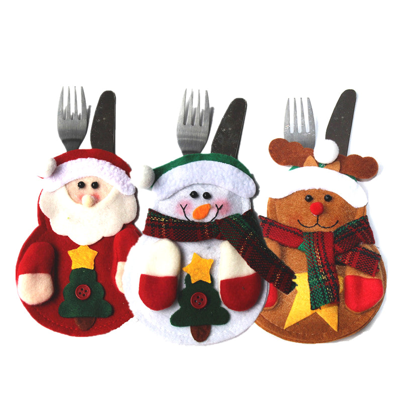 Merry Chirstmas Knife Fork Cutlery Set