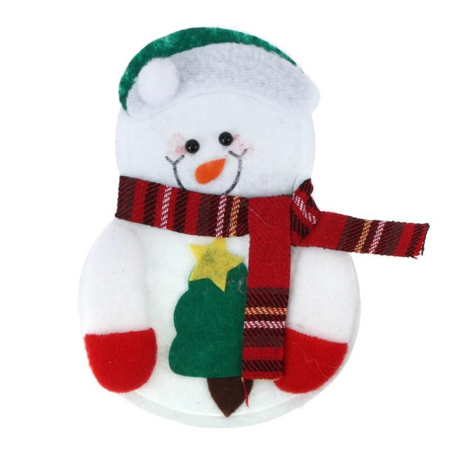 Christmas Snowman Fork Knife Set