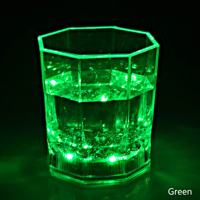 Colorful Flashing Led Light cup Magic Led Champagne Glass