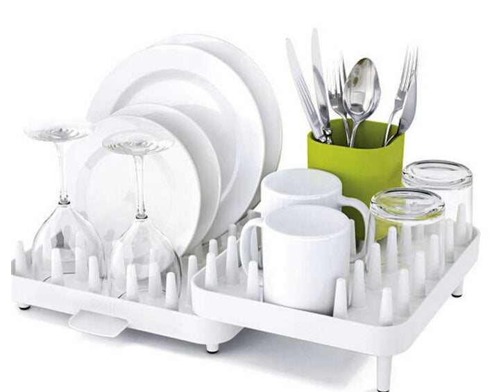 Hot Sales Adjustable Cutlery Dishes Rack Draining Tableware Storage Holder Rack