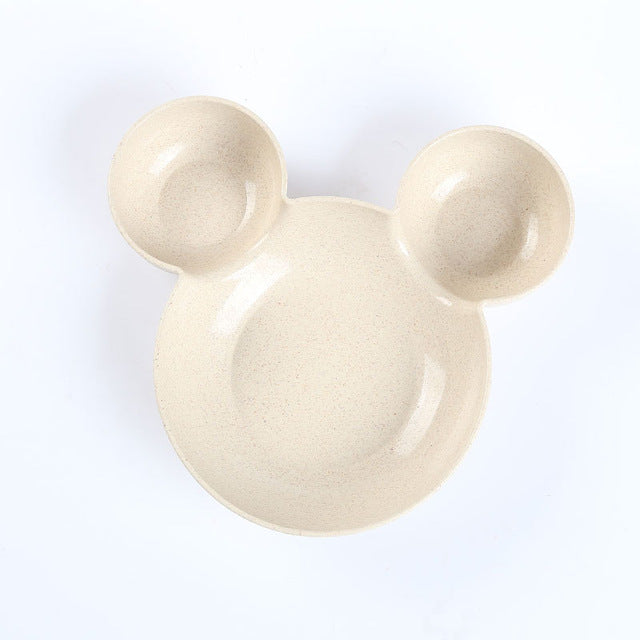 Cartoon Mickey Minnie Shape Plate Melamine Tableware