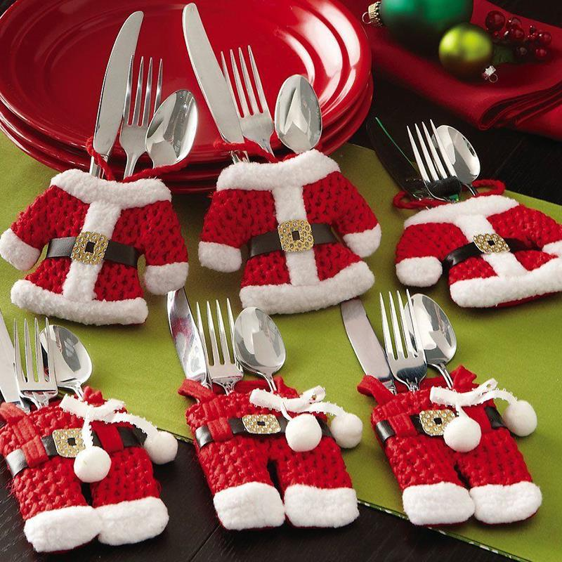 Christmas Decorations Snowman Cutlery Bags