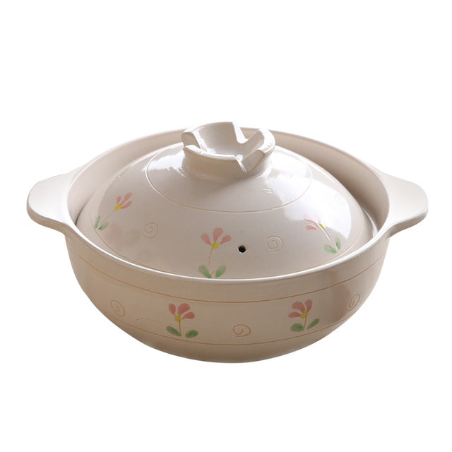 Casserole stew soup fire clay ceramic gas high
