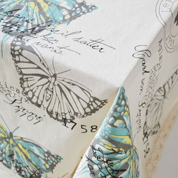 Butterfly Linen Table Cloth