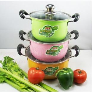 Colorful Stainless Steel Cookware Set