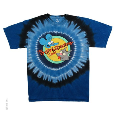 The Simpsons Itchy & Scratchy Tie Dye T-Shirt - Label U.S 2XL (Fits AUST 3XL)