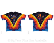 Space Shrooms Radical Tie Dye T-Shirt - Label U.S 4XL (Fits AUST 5XL)