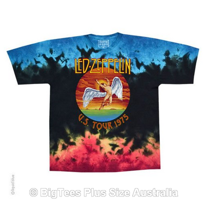 Led Zeppelin Icarus Tie Dye T-Shirt - Label U.S 4XL (Fits AUST 7XL)