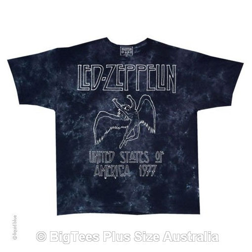 Led Zeppelin 77 Tour T-Shirt - Label U.S Medium (Fits AUST Small)