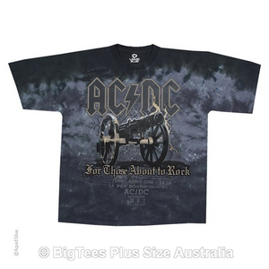 ACDC Cannon Tie Dye Rock T-Shirt - Label U.S XL (Fits AUST 3XL)