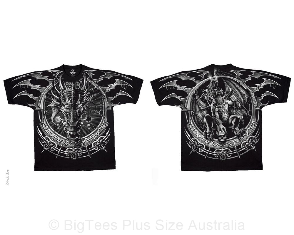 Dragon Dreamcatcher Double-Sided T-Shirt - U.S 5XL (Fits AUST 10XL)