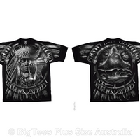 Wolf Dreamcatcher Double-Sided T-Shirt - U.S 2XL (Fits AUST 3XL)