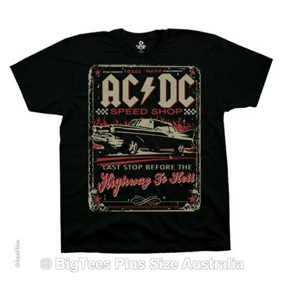 ACDC Speedshop T-Shirt - Label U.S 5XL (Fits AUST 9XL)