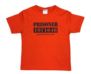 Childrens Prisoner Just Outta Time Out T-Shirt (Orange)