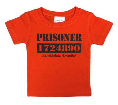 Childrens Prisoner Just 9 Months Baby & Toddler T-Shirt (Orange)