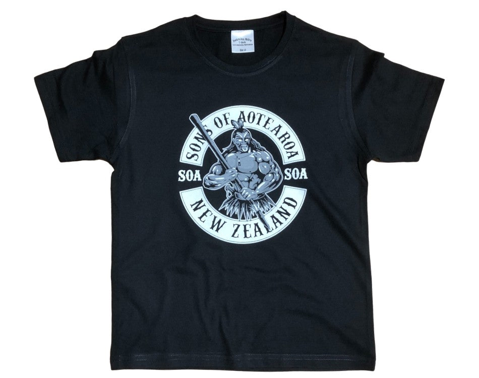 Childrens Sons of Aotearoa T-Shirt (Black)