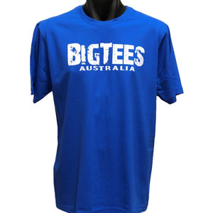 BigTees Australia Logo T-Shirt (Royal Blue, Regular and Big Sizes)