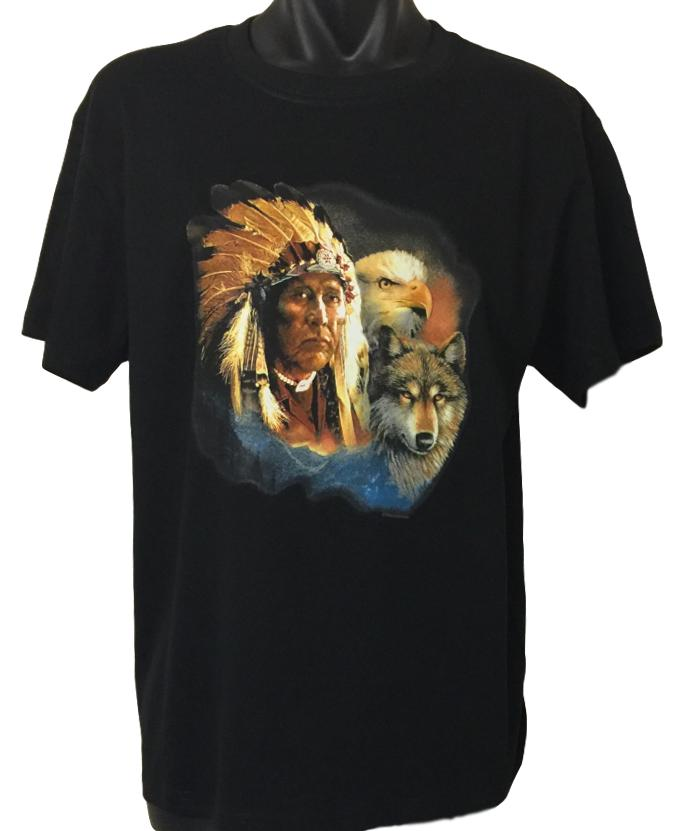 Native American Indian Animals T-Shirt (Regular and Big Sizes)
