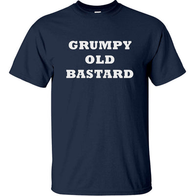 Grumpy Old Bastard T-Shirt (Navy Blue, Regular and Big Sizes)
