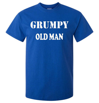 Grumpy Old Man T-Shirt (Royal Blue, Regular and Big Sizes)