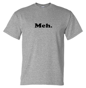 Meh. T-Shirt (Marle Grey, Regular and Big Sizes)