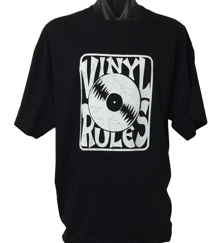 Vinyl Rules Music T-Shirt (Regular and Big Sizes)
