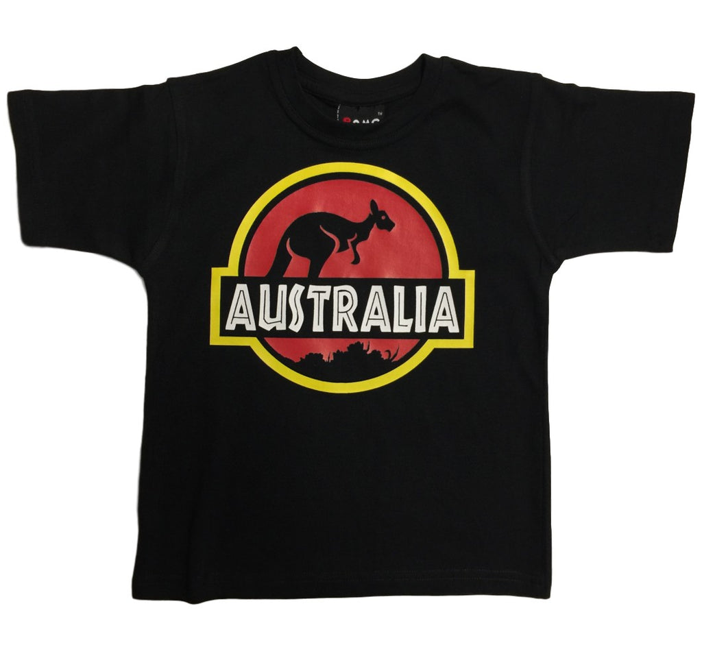 Childrens Roo Park Australia T-Shirt (Black)