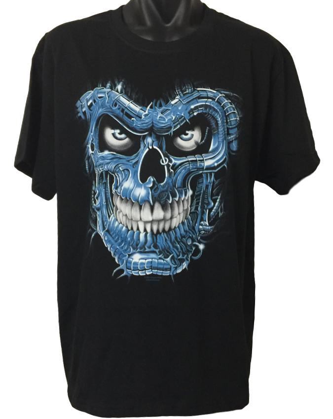 Terminator Skull T-Shirt (Regular and Big Sizes)