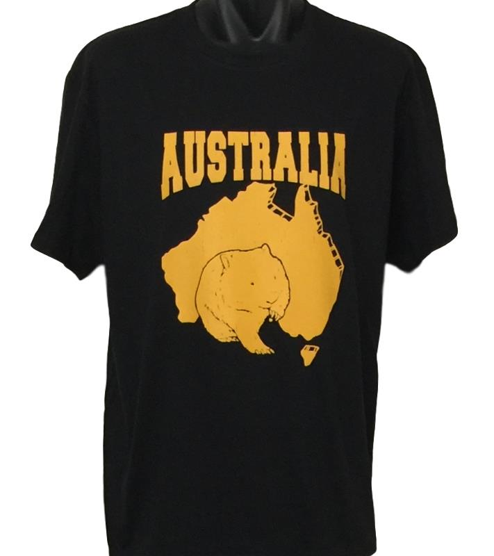 Australian Wombat T-Shirt (Black, Regular and Big Sizes)