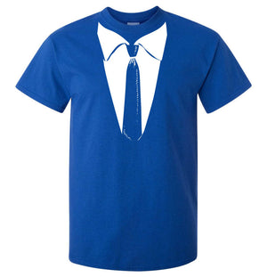 Formal Tie T-Shirt (Royal Blue, Regular and Big Sizes)