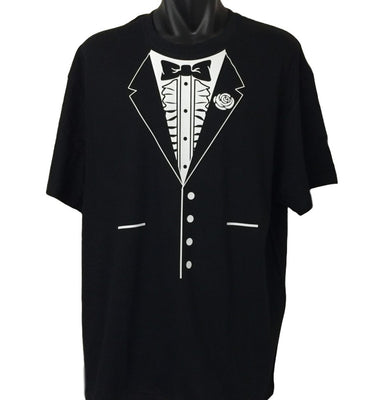 Bow Tie Tuxedo T-Shirt (Regular and Big Mens Sizes)