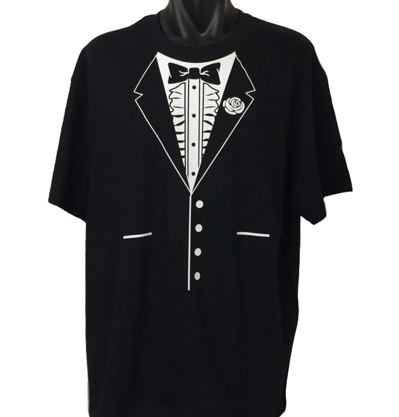3484c0e92 Bow Tie Tuxedo T-Shirt (Regular and Big Mens Sizes) | BigTees ...