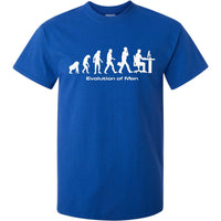 Evolution of Man Computer Guy T-Shirt (Royal Blue, Regular and Big Sizes)