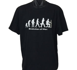 Evolution of Man Computer Guy T-Shirt (Black, Regular and Big Sizes)