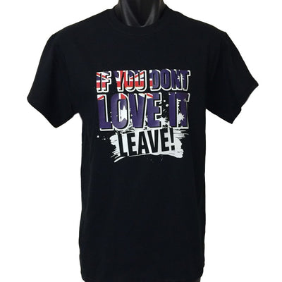 Love it or Leave Australian Flag T-Shirt (Regular and Big Sizes)