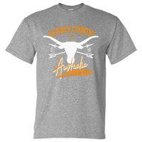 Outback Country Australia T-Shirt (Marle Grey, Regular and Big Sizes)