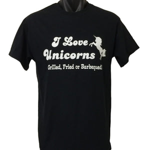 I Love Unicorns.. Grill, Fried or BBQ T-Shirt (Regular and Big Sizes)